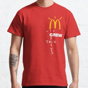 Travis Scott x McDonald's Crew cactus jack mcdonalds Classic T-Shirt RB0107 product Offical Travis Scott Merch