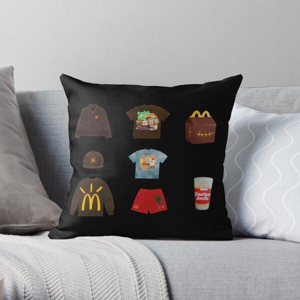 Travis Scott x McDonald's Sticker Pack Throw Pillow RB0107 product Offical Travis Scott Merch