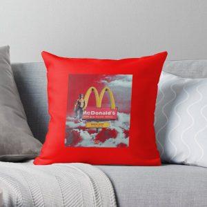 Travis scott x Mac donald's Throw Pillow RB0107 product Offical Travis Scott Merch
