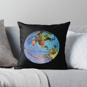 Travis Scott Astroworld Globe Smiley Throw Pillow RB0107 product Offical Travis Scott Merch