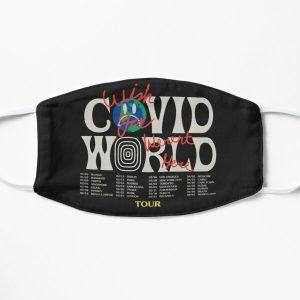 Travis Scott Astroworld Parody Covid World Tour Graphic Design wish you were here world tour cities Flat Mask RB0107 product Offical Travis Scott Merch