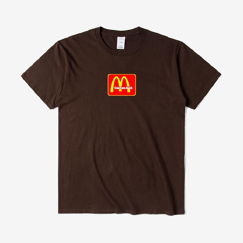 Travis Scotts Staff T Shirts 2021 Trendy Hip Hop Hommes Femmes Brown T-Shirt Men Women Cactus Jack Cotton Oversized Tee S-3X